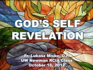 GOD'S SELF  REVELATION