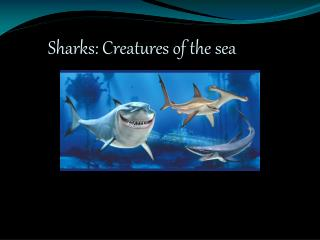 Sharks: Creatures of the sea