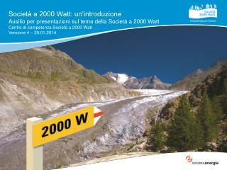 Societ� a 2000 Watt