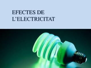 EFECTES DE L'ELECTRICITAT