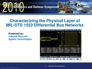 Characterizing the Physical Layer of MIL-STD 1553 Differential Bus  Networks