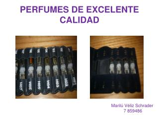 PERFUMES DE EXCELENTE CALIDAD