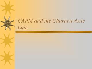 CAPM and the Characteristic Line