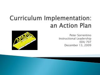 Curriculum Implementation: an Action Plan