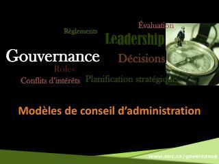 Modèles  de  conseil d'administration