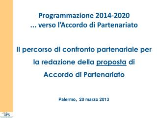 Palermo,  20  marzo 2013