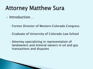 Attorney Matthew Sura