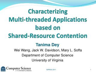 Characterizing  Multi-threaded Applications based on Shared-Resource Contention