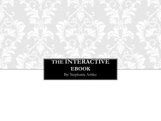 The  interactive ebook