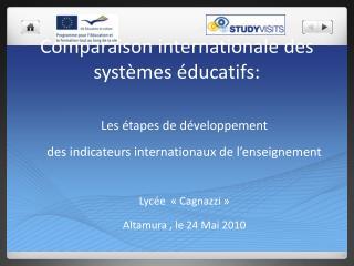 Comparaison internationale des systèmes éducatifs: