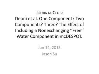Jan 14, 2013 Jason Su