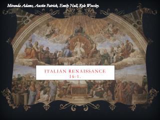 Italian Renaissance 16-1.