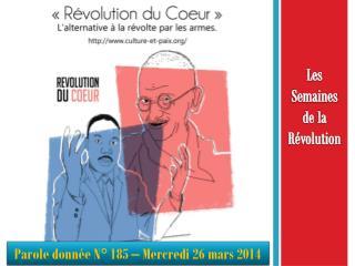 Les Semaines  de la Révolution