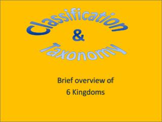 Brief overview of 6 Kingdoms