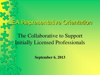 LEA Representative Orientation