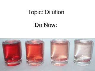 Topic: Dilution Do Now :
