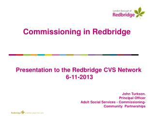 Commissioning in Redbridge