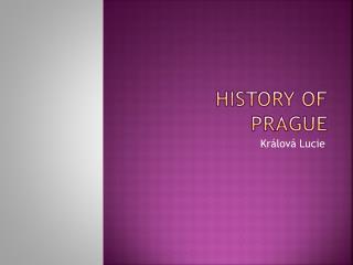 History of Prague