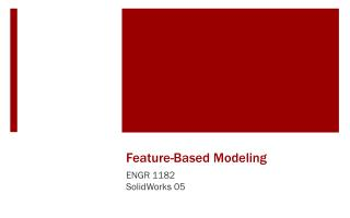 Feature-Based Modeling