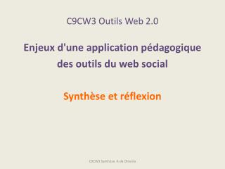 C9CW3 Outils Web 2.0