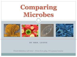Comparing Microbes