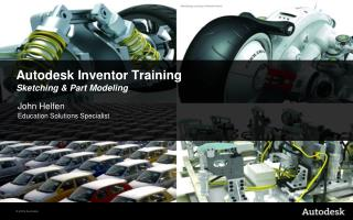 Autodesk Inventor Training Sketching & Part Modeling