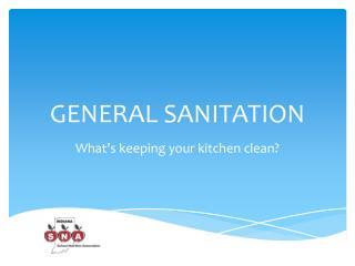 General Sanitation