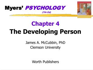 Myers  PSYCHOLOGY       7th Ed