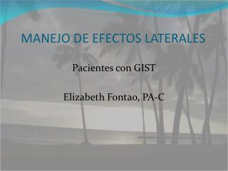 MANEJO DE EFECTOS LATERALES