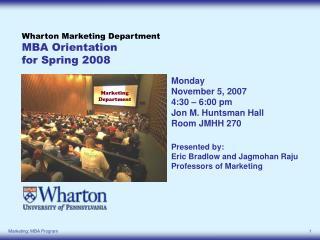The Undergraduate Marketing Program