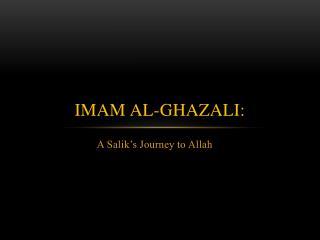 Imam Al-Ghazali: