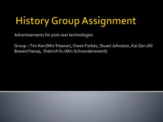 History Group Assignment