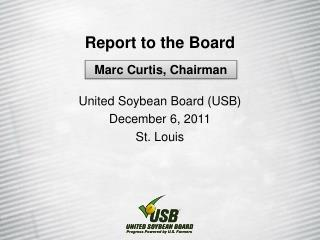 Report to the Board