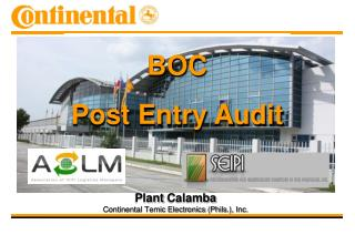 Plant  Calamba Continental Temic Electronics ( Phils .), Inc.