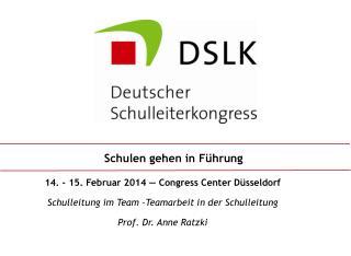 14. - 15. Februar 2014 — Congress Center Düsseldorf