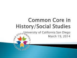 Common  Core  in History/Social Studies