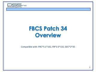 FBCS Patch 34 Overview