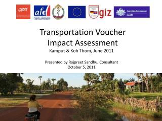 Transportation Voucher  Impact Assessment