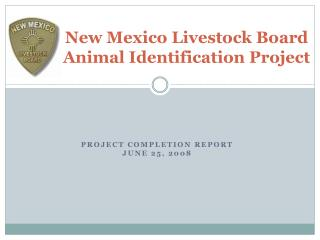 New Mexico Livestock Board Animal Identification Project