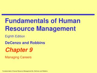 Chapter 9 Managing Careers