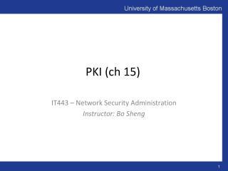 PKI ( ch  15)