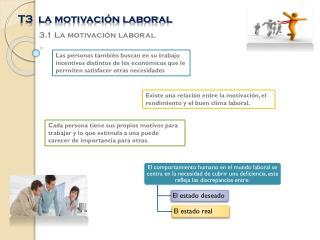 T3  la motivación laboral