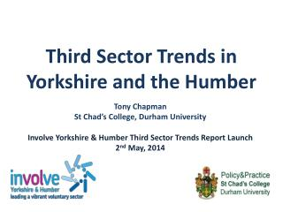 Third Sector Trends in Yorkshire and the Humber