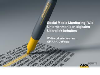 Warum  Social  Media Monitoring?