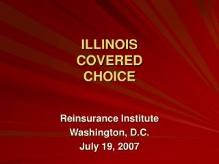 ILLINOIS  COVERED CHOICE