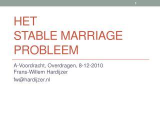 Het Stable Marriage probleem