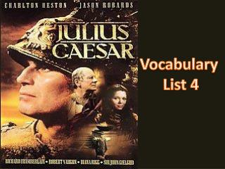 Vocabulary  List 4