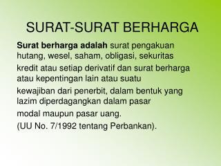 SURAT-SURAT BERHARGA