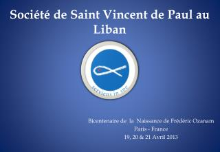 Soci�t� de Saint  Vincent de Paul  au Liban
