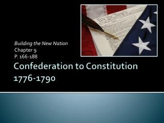 Confederation to Constitution 1776-1790